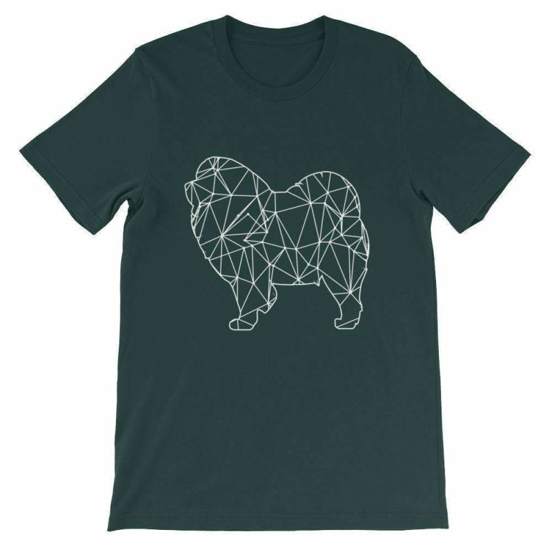 Chow Geometric Design - Unisex Short Sleeve T-Shirt Forest / S