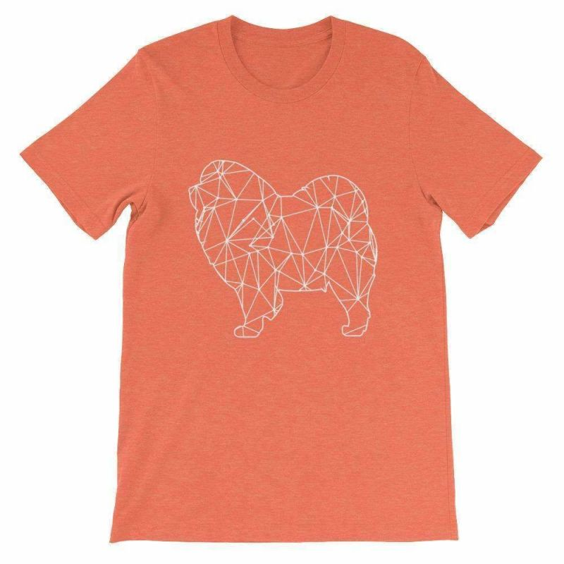 Chow Geometric Design - Unisex Short Sleeve T-Shirt Heather Orange / S