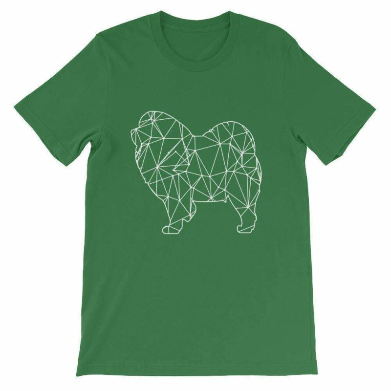 Chow Geometric Design - Unisex Short Sleeve T-Shirt Leaf / S