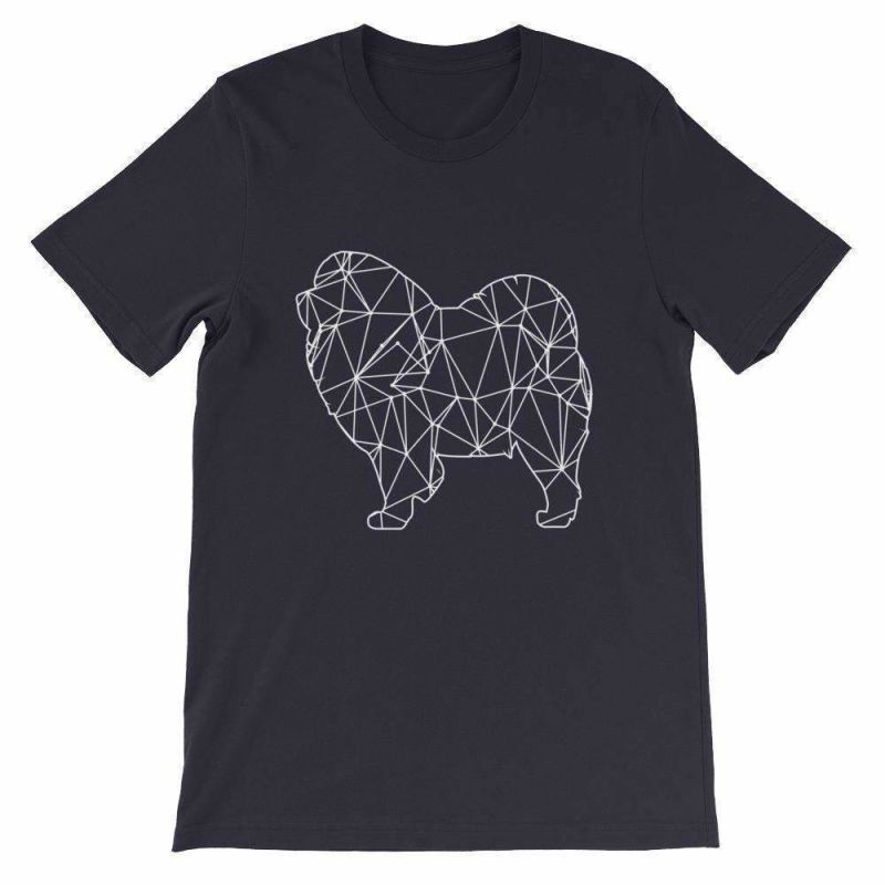 Chow Geometric Design - Unisex Short Sleeve T-Shirt Navy / S