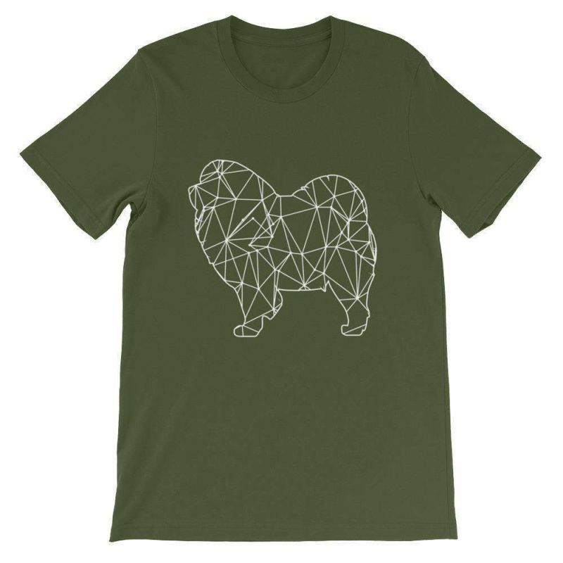 Chow Geometric Design - Unisex Short Sleeve T-Shirt Olive / S