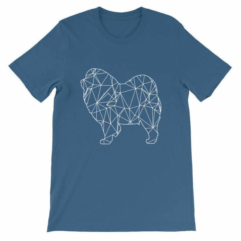 Chow Geometric Design - Unisex Short Sleeve T-Shirt Steel Blue / S