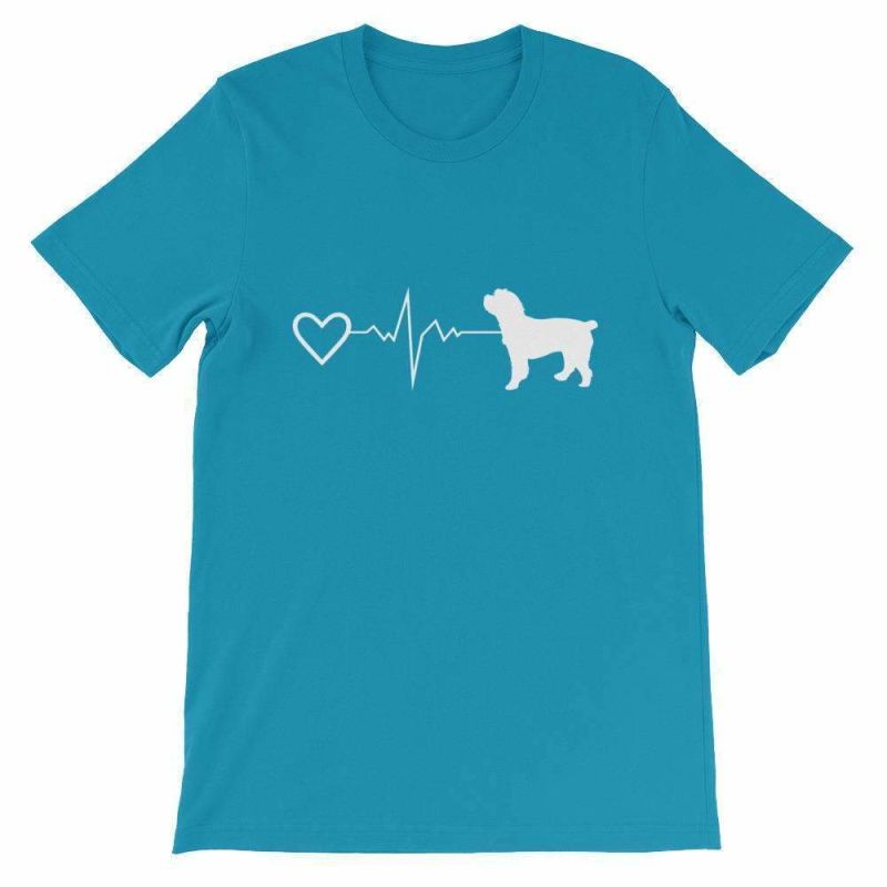 Cockapoo Heartbeat - Short-Sleeve Unisex T-Shirt Aqua / S