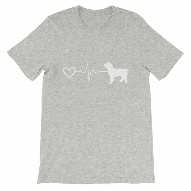 Cockapoo Heartbeat - Short-Sleeve Unisex T-Shirt Athletic Heather / S