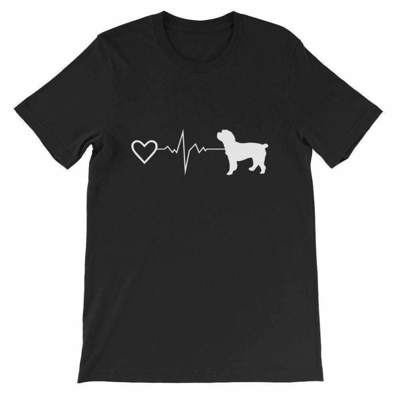 Cockapoo Heartbeat - Short-Sleeve Unisex T-Shirt Black / S