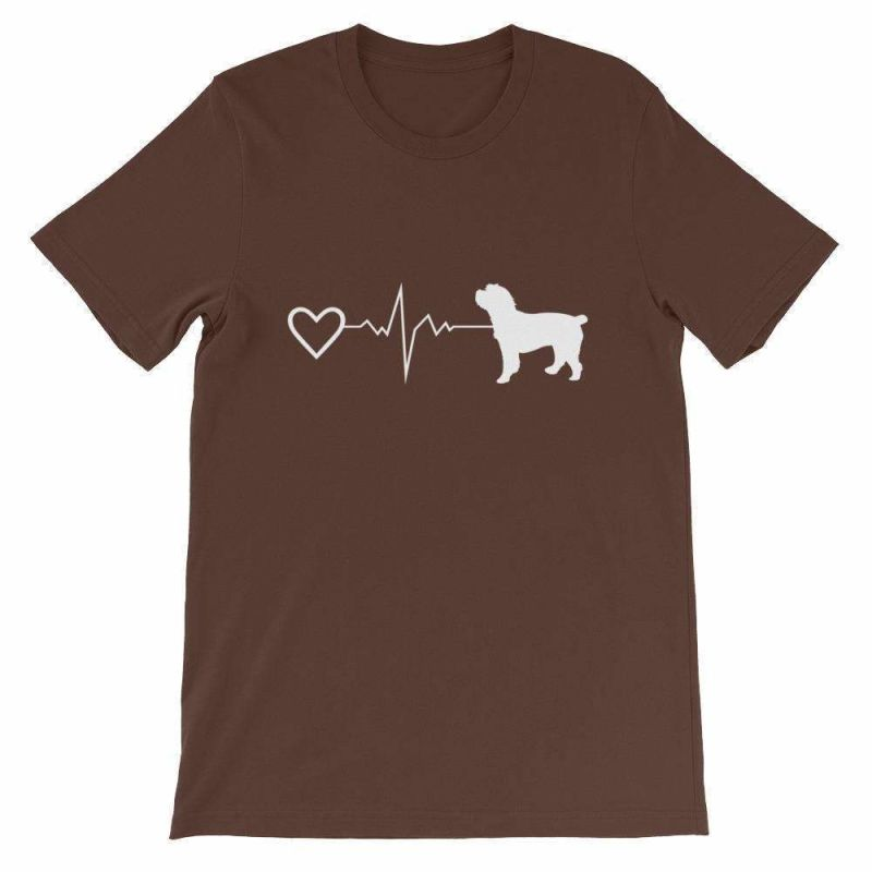 Cockapoo Heartbeat - Short-Sleeve Unisex T-Shirt Brown / S