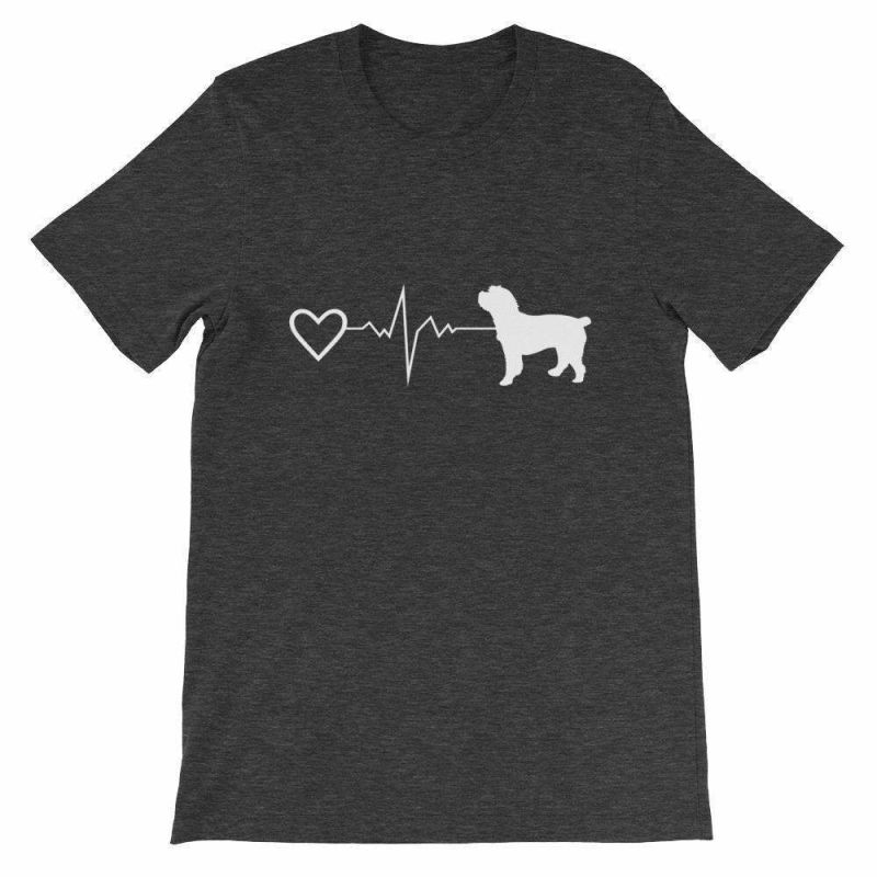 Cockapoo Heartbeat - Short-Sleeve Unisex T-Shirt Dark Grey Heather / S