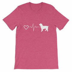 Cockapoo Heartbeat - Short-Sleeve Unisex T-Shirt Heather Raspberry / S