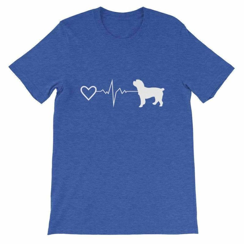 Cockapoo Heartbeat - Short-Sleeve Unisex T-Shirt Heather True Royal / S