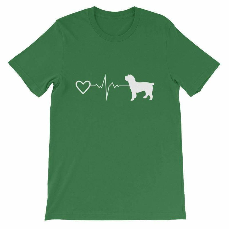 Cockapoo Heartbeat - Short-Sleeve Unisex T-Shirt Leaf / S