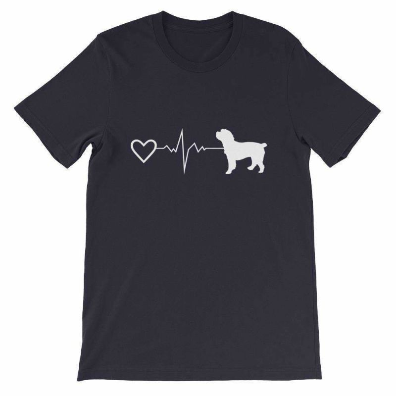 Cockapoo Heartbeat - Short-Sleeve Unisex T-Shirt Navy / S