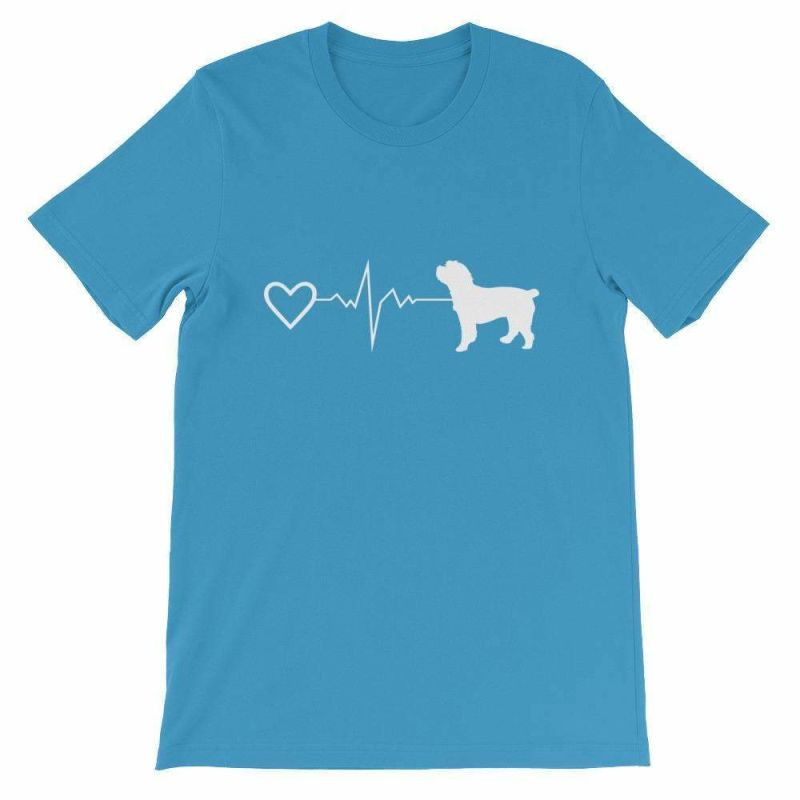 Cockapoo Heartbeat - Short-Sleeve Unisex T-Shirt Ocean Blue / S