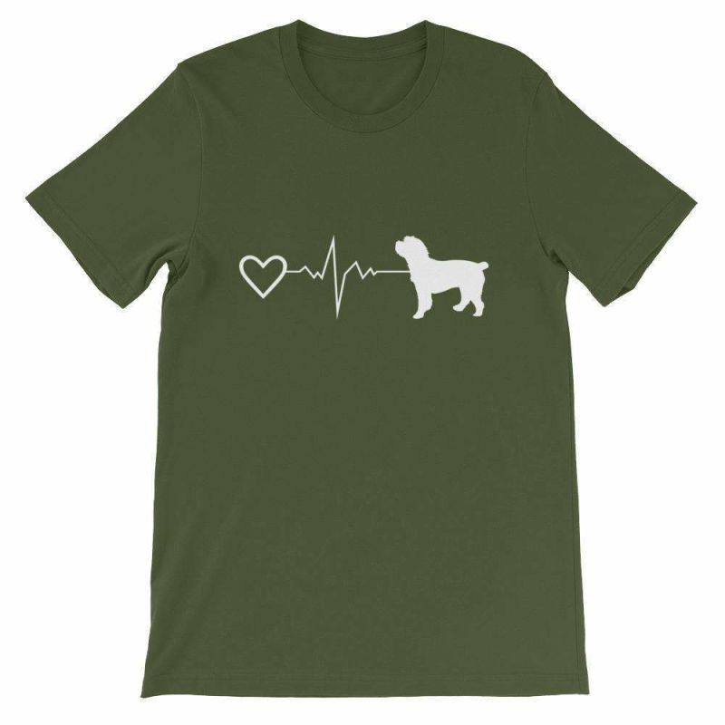 Cockapoo Heartbeat - Short-Sleeve Unisex T-Shirt Olive / S