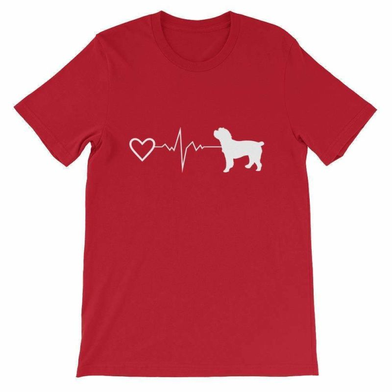 Cockapoo Heartbeat - Short-Sleeve Unisex T-Shirt Red / S