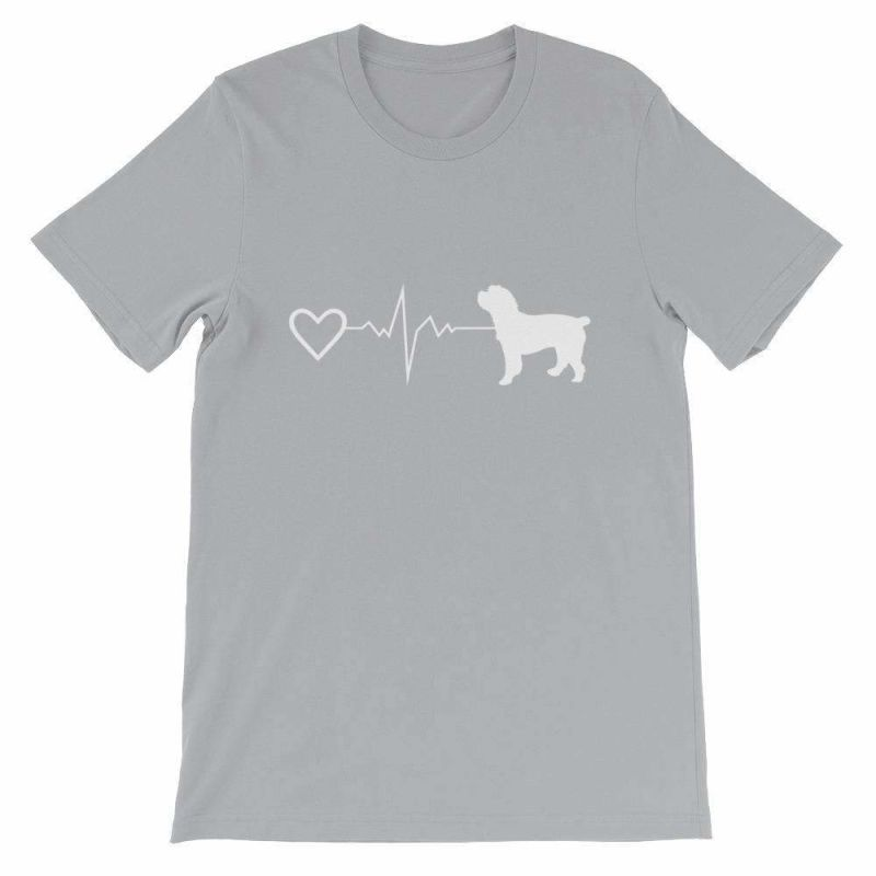 Cockapoo Heartbeat - Short-Sleeve Unisex T-Shirt Silver / S
