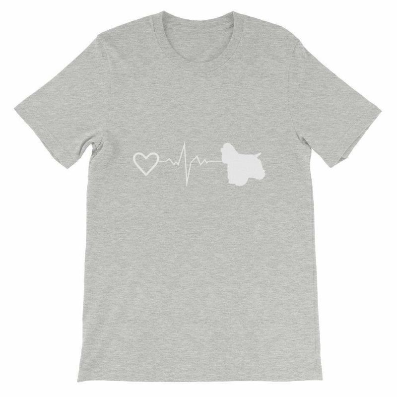 Cocker Spaniel Heartbeat - Short-Sleeve Unisex T-Shirt Athletic Heather / S