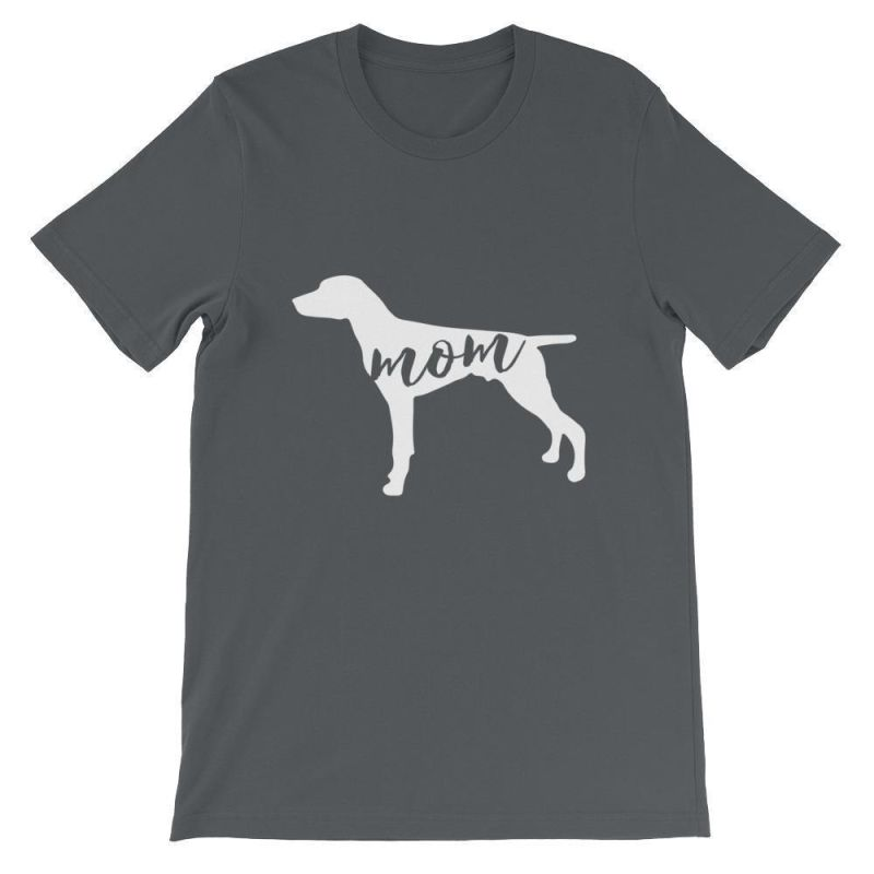 German Short Haired Pointer Mom - Unisex Sleeve T-Shirt Asphalt / S