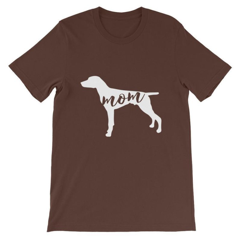 German Short Haired Pointer Mom - Unisex Sleeve T-Shirt Brown / S