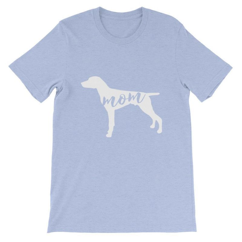 German Short Haired Pointer Mom - Unisex Sleeve T-Shirt Heather Blue / S
