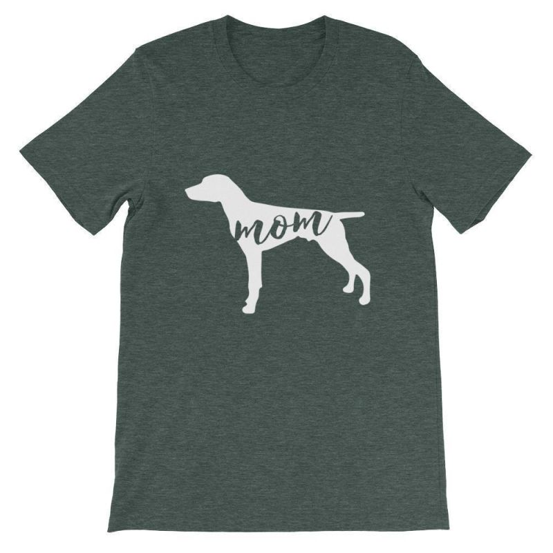 German Short Haired Pointer Mom - Unisex Sleeve T-Shirt Heather Forest / S