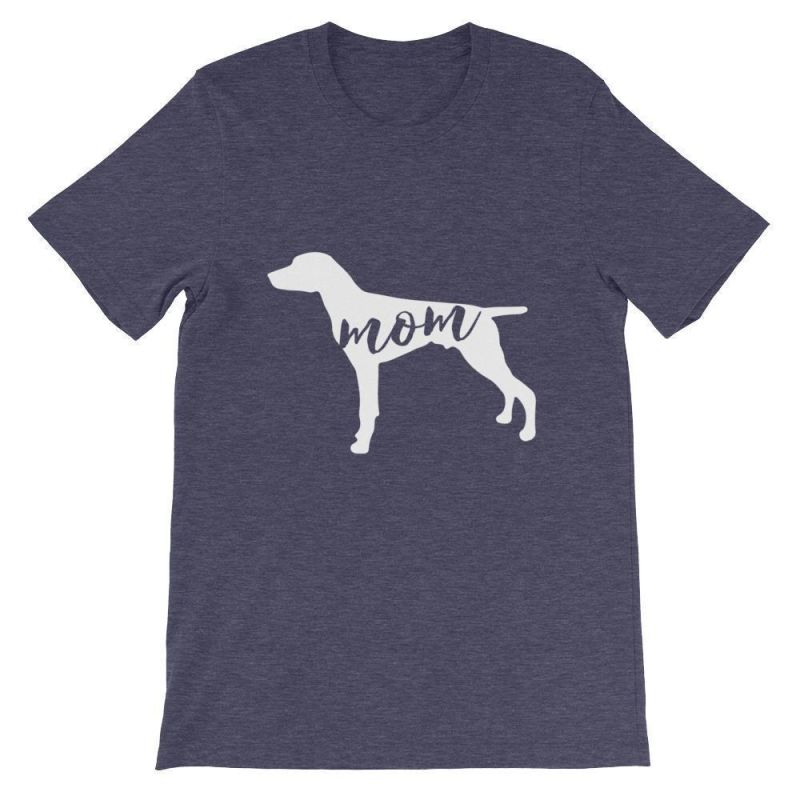 German Short Haired Pointer Mom - Unisex Sleeve T-Shirt Heather Midnight Navy / S