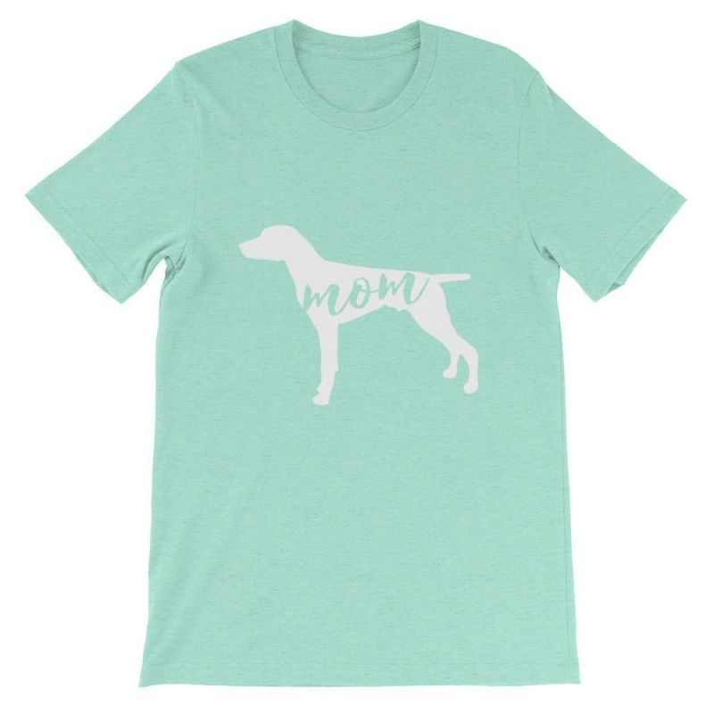 German Short Haired Pointer Mom - Unisex Sleeve T-Shirt Heather Mint / S