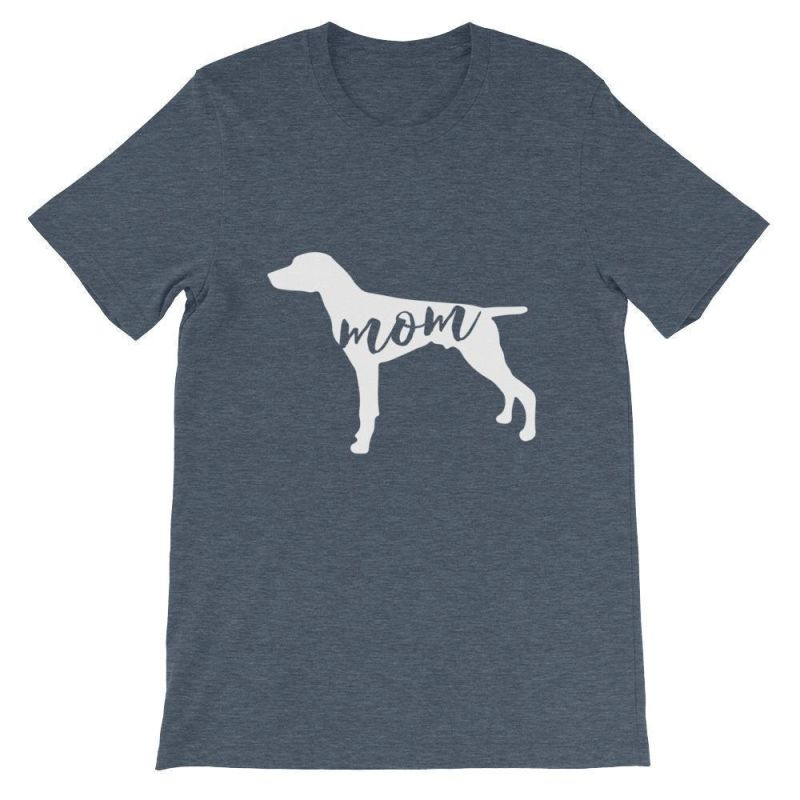 German Short Haired Pointer Mom - Unisex Sleeve T-Shirt Heather Navy / S