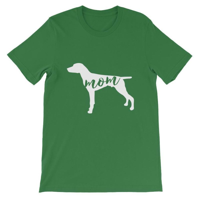 German Short Haired Pointer Mom - Unisex Sleeve T-Shirt Leaf / S