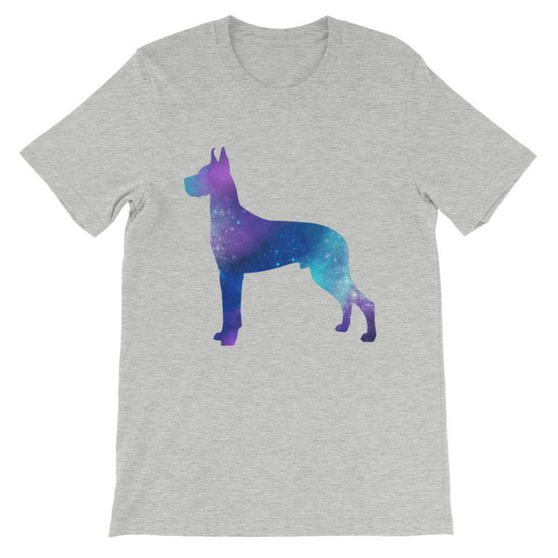 Great Dane Galaxy Design - Unisex Short Sleeve T-Shirt Athletic Heather / S