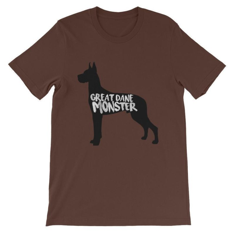 Great Dane Monster Unisex Short Sleeve T Shirt Dog