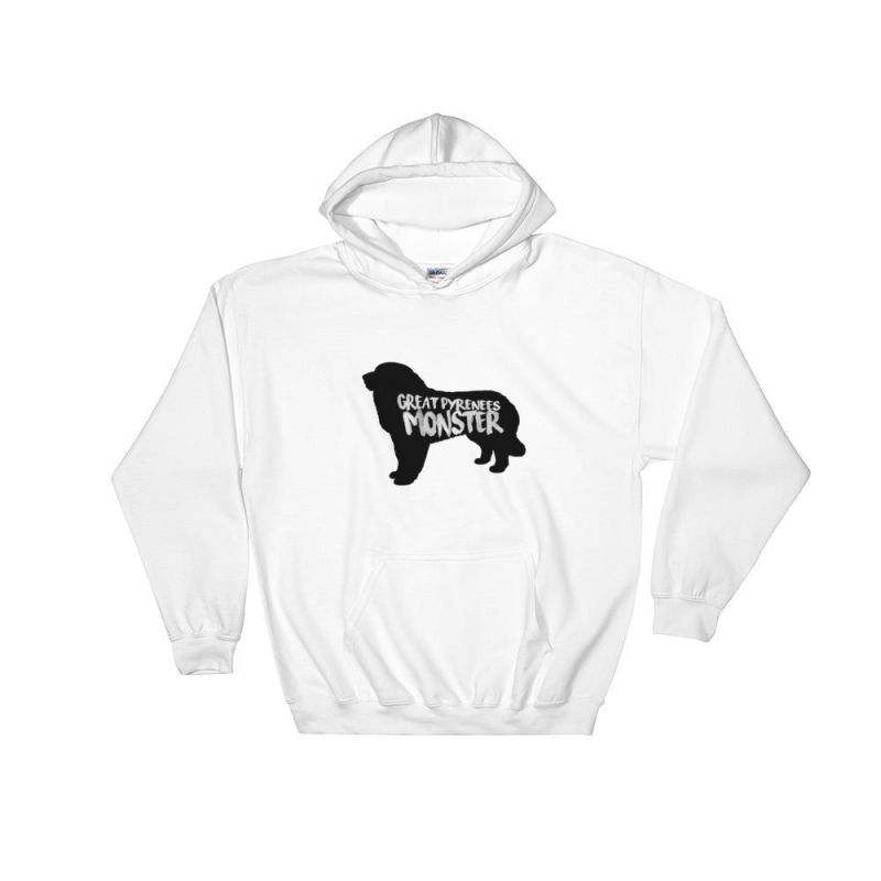 Great Pyrenees Monster - Hoodie White / S