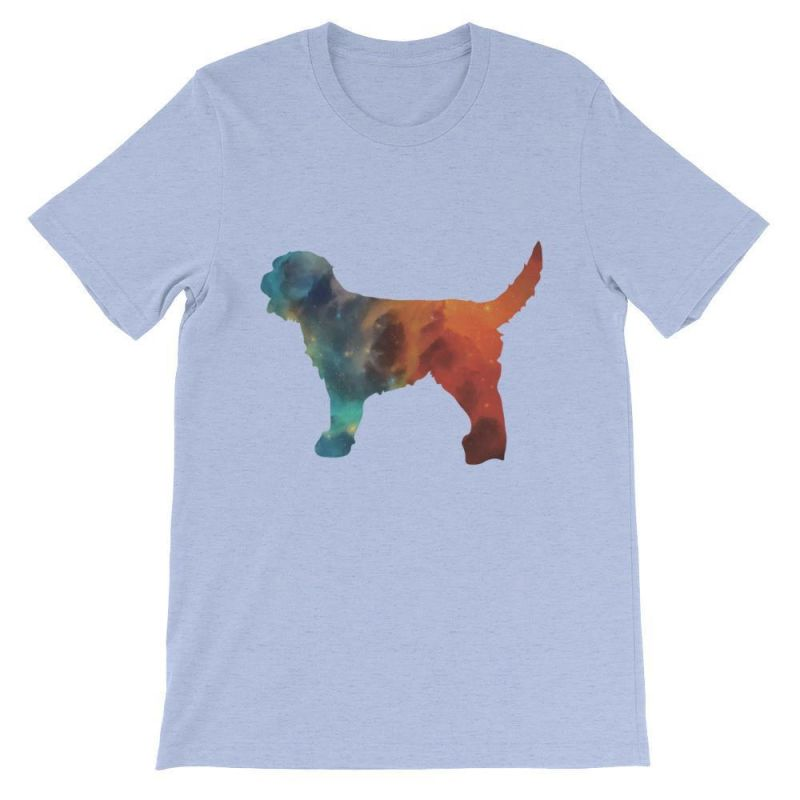Labradoodle Galaxy Design - Unisex Short Sleeve T-Shirt Heather Blue / S