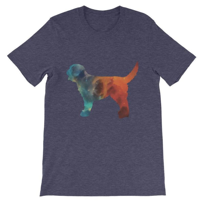 Labradoodle Galaxy Design - Unisex Short Sleeve T-Shirt Heather Midnight Navy / S