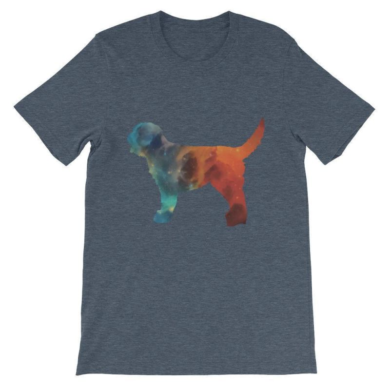 Labradoodle Galaxy Design - Unisex Short Sleeve T-Shirt Heather Navy / S