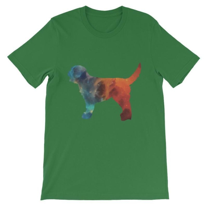 Labradoodle Galaxy Design - Unisex Short Sleeve T-Shirt Leaf / S