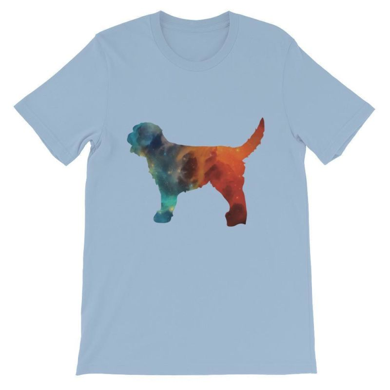 Labradoodle Galaxy Design - Unisex Short Sleeve T-Shirt Light Blue / S