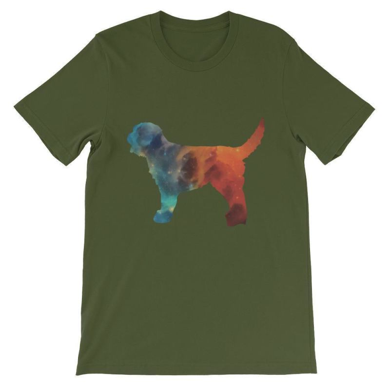 Labradoodle Galaxy Design - Unisex Short Sleeve T-Shirt Olive / S