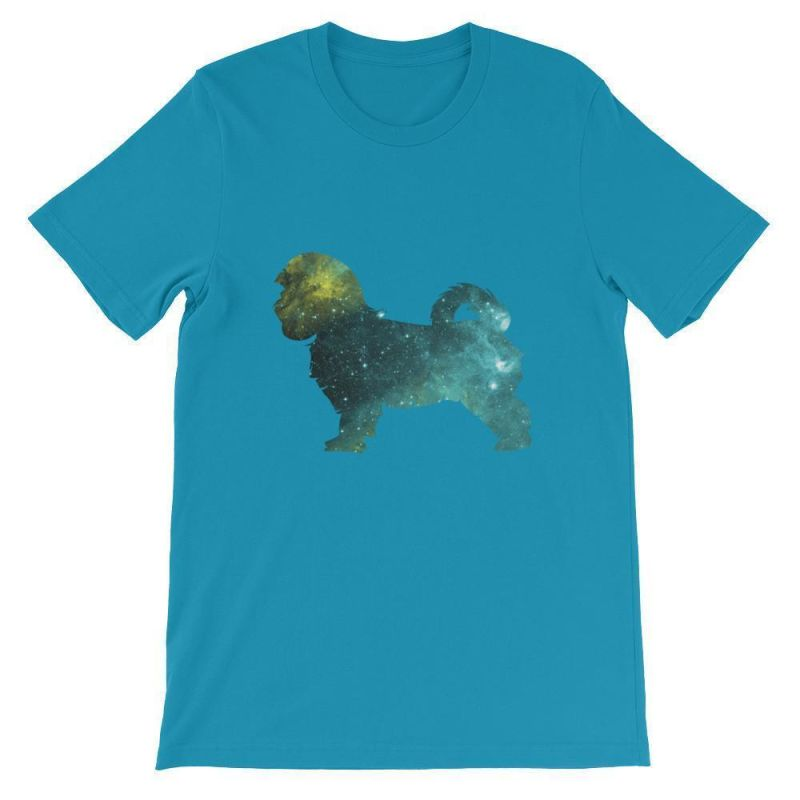 Maltese Galaxy Design - Unisex Short Sleeve T-Shirt Aqua / S