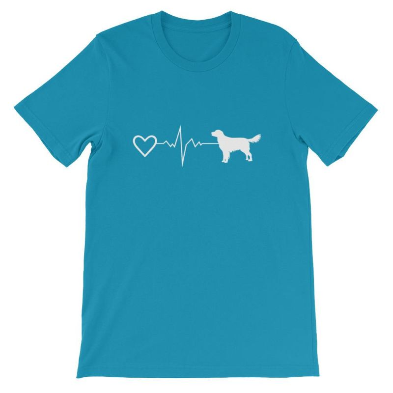 Nova Scotia Duck Tolling Retriever - Heartbeat Short-Sleeve Unisex T-Shirt Aqua / S