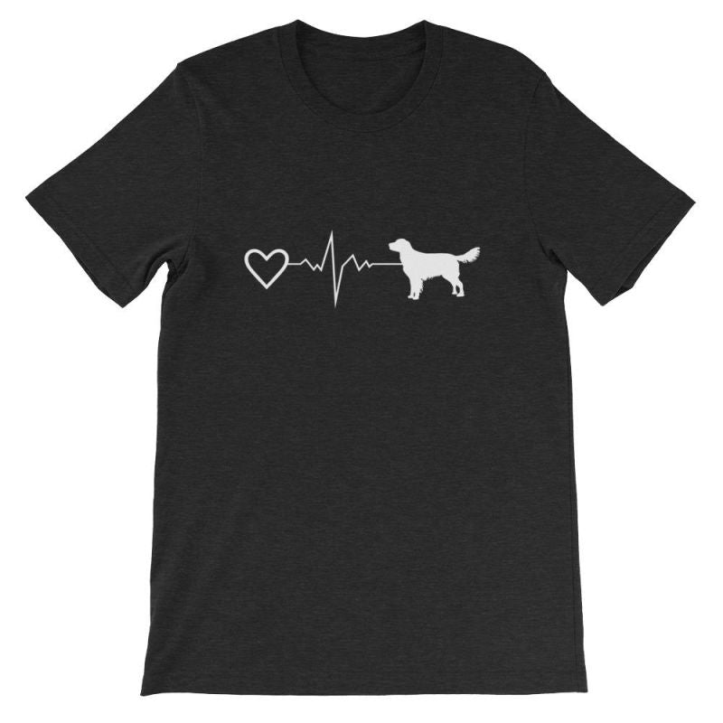 Nova Scotia Duck Tolling Retriever - Heartbeat Short-Sleeve Unisex T-Shirt Black Heather / S