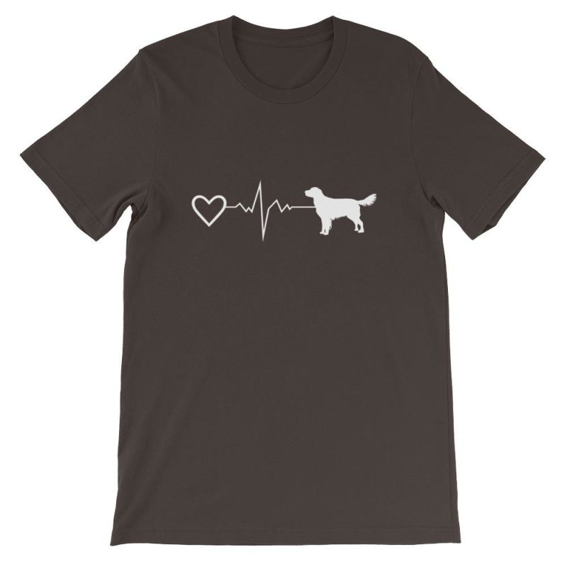 Nova Scotia Duck Tolling Retriever - Heartbeat Short-Sleeve Unisex T-Shirt Brown / S