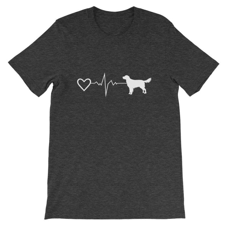 Nova Scotia Duck Tolling Retriever - Heartbeat Short-Sleeve Unisex T-Shirt Dark Grey Heather / S