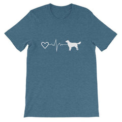 Nova Scotia Duck Tolling Retriever - Heartbeat Short-Sleeve Unisex T-Shirt Heather Deep Teal / S