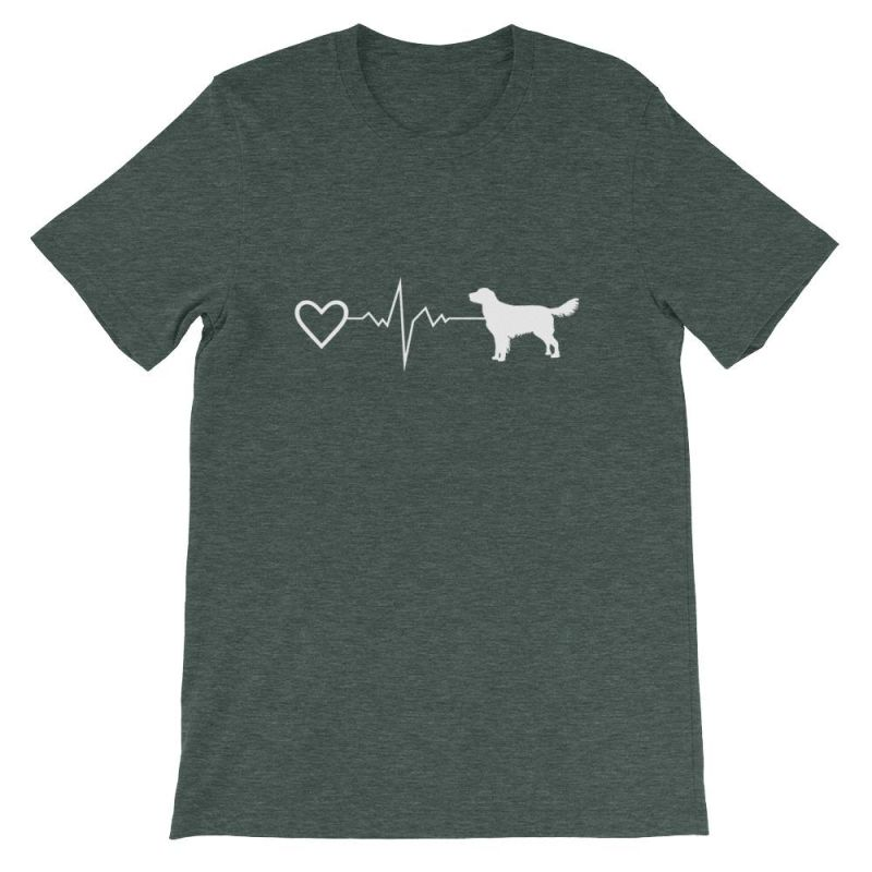 Nova Scotia Duck Tolling Retriever - Heartbeat Short-Sleeve Unisex T-Shirt Heather Forest / S