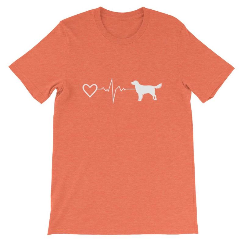 Nova Scotia Duck Tolling Retriever - Heartbeat Short-Sleeve Unisex T-Shirt Heather Orange / S