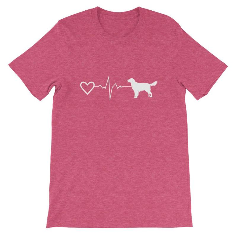 Nova Scotia Duck Tolling Retriever - Heartbeat Short-Sleeve Unisex T-Shirt Heather Raspberry / S