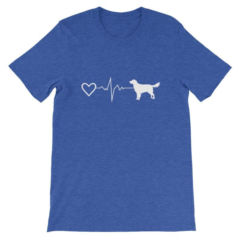 Nova Scotia Duck Tolling Retriever - Heartbeat Short-Sleeve Unisex T-Shirt Heather True Royal / S