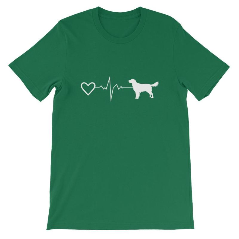 Nova Scotia Duck Tolling Retriever - Heartbeat Short-Sleeve Unisex T-Shirt Kelly / S