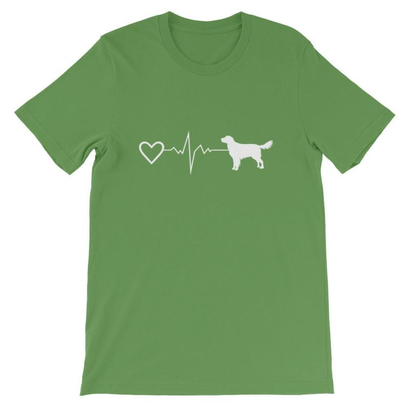 Nova Scotia Duck Tolling Retriever - Heartbeat Short-Sleeve Unisex T-Shirt Leaf / S