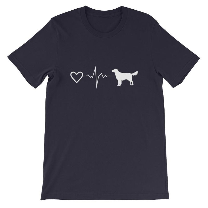 Nova Scotia Duck Tolling Retriever - Heartbeat Short-Sleeve Unisex T-Shirt Navy / S